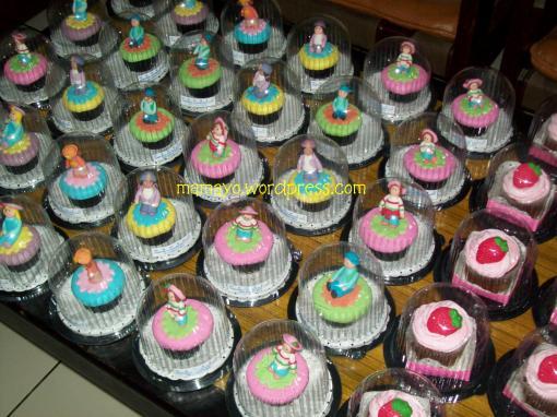 cupcake setelah dipacking