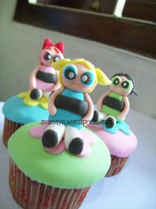 power puff girls cupcakes