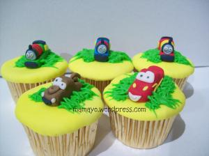 thomas and cars cupcakes