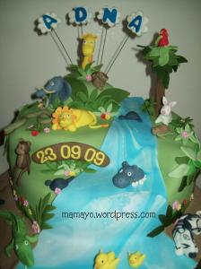 safari/jungle cake
