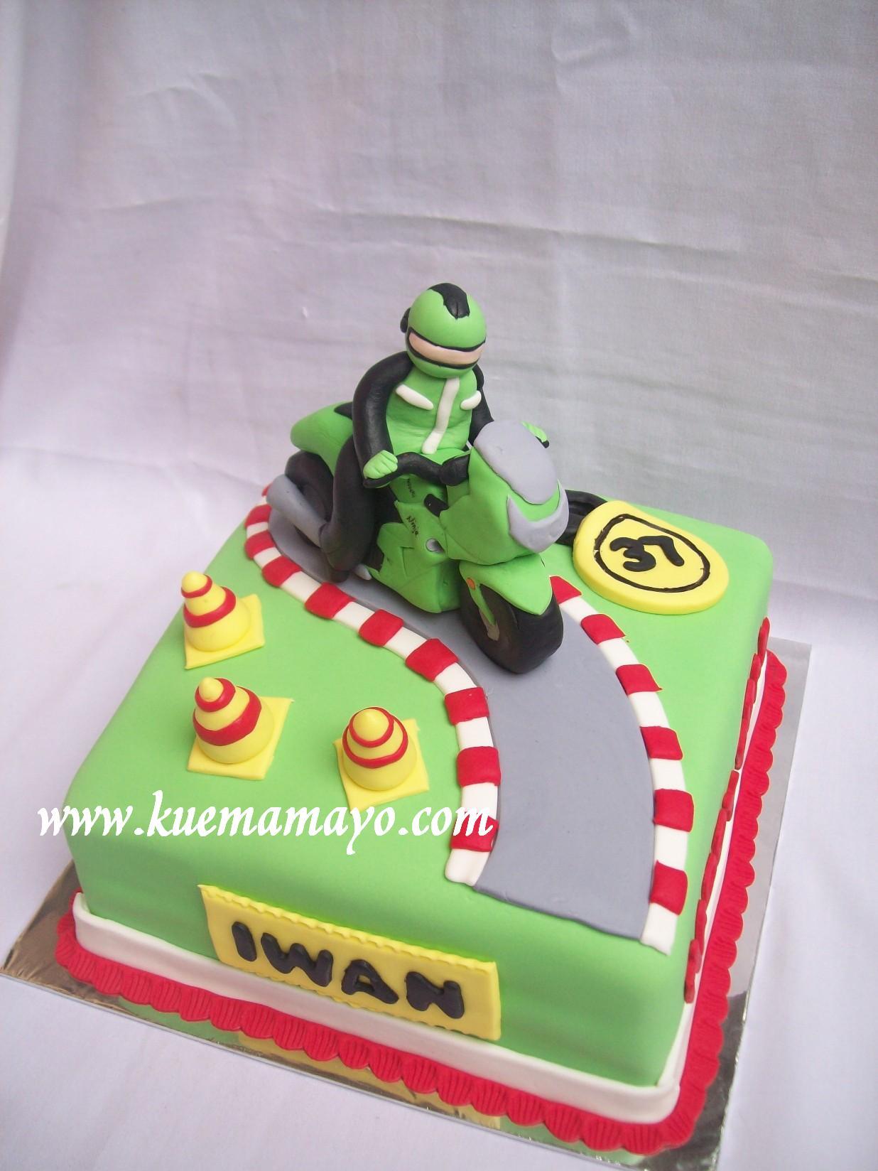 Download Kumpulan 100 Kue Ulang Tahun Gambar Motor Ninja