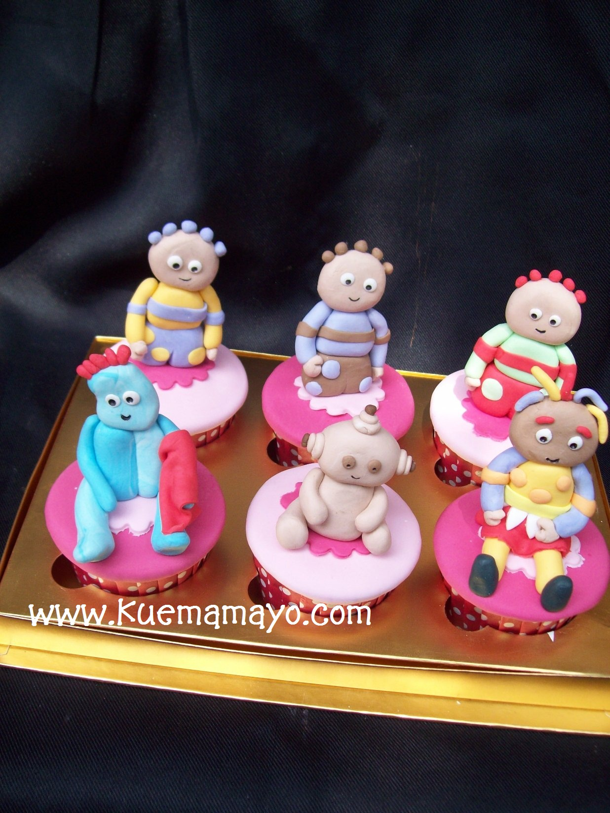in the night garden cupcakes set