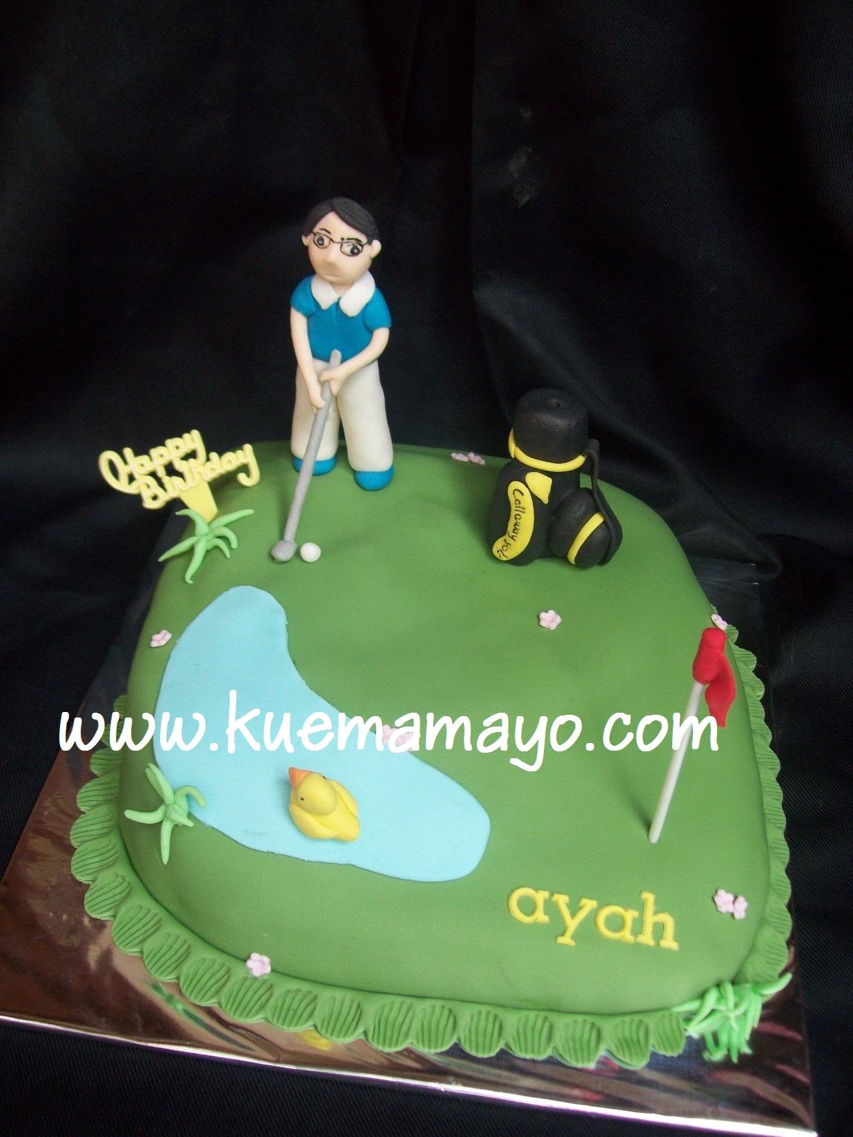 simple golf cake Mamayo