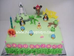 angry bird and bernard cake