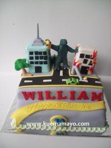 godzila cake