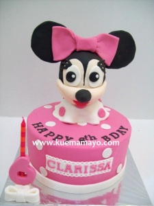 minnie head cake