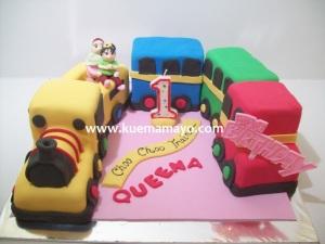 queena train cake