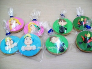 Ben 10 and princess cookies