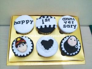 Anniversary cupcakes