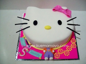 Hello kitty head cake