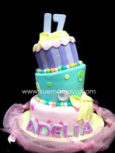 Sweet seventeen cake