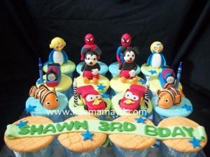 Cupcake set karakter favorit