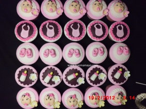 Baby themes cupcakes