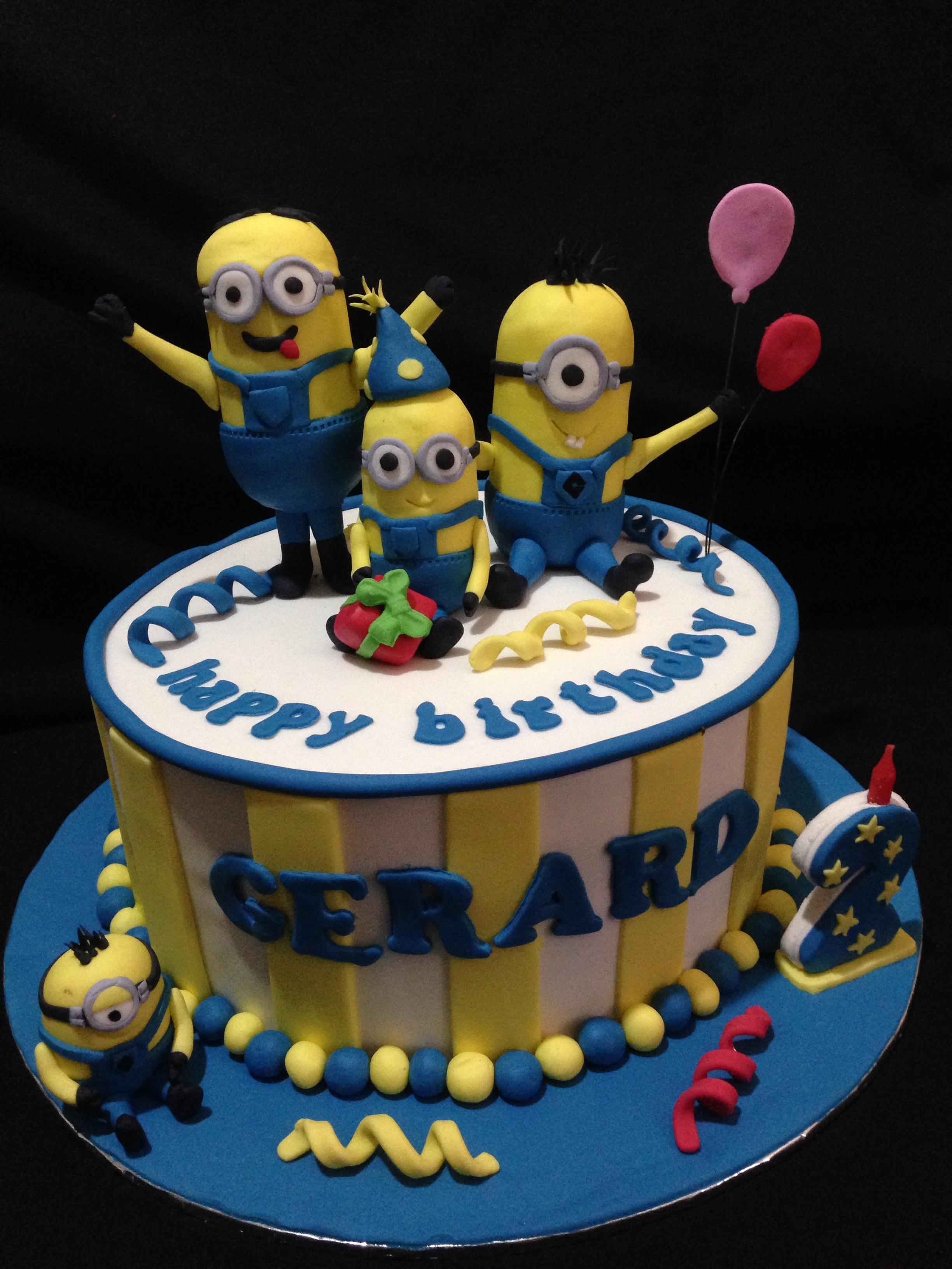 Minions Theme Cake Mamayo