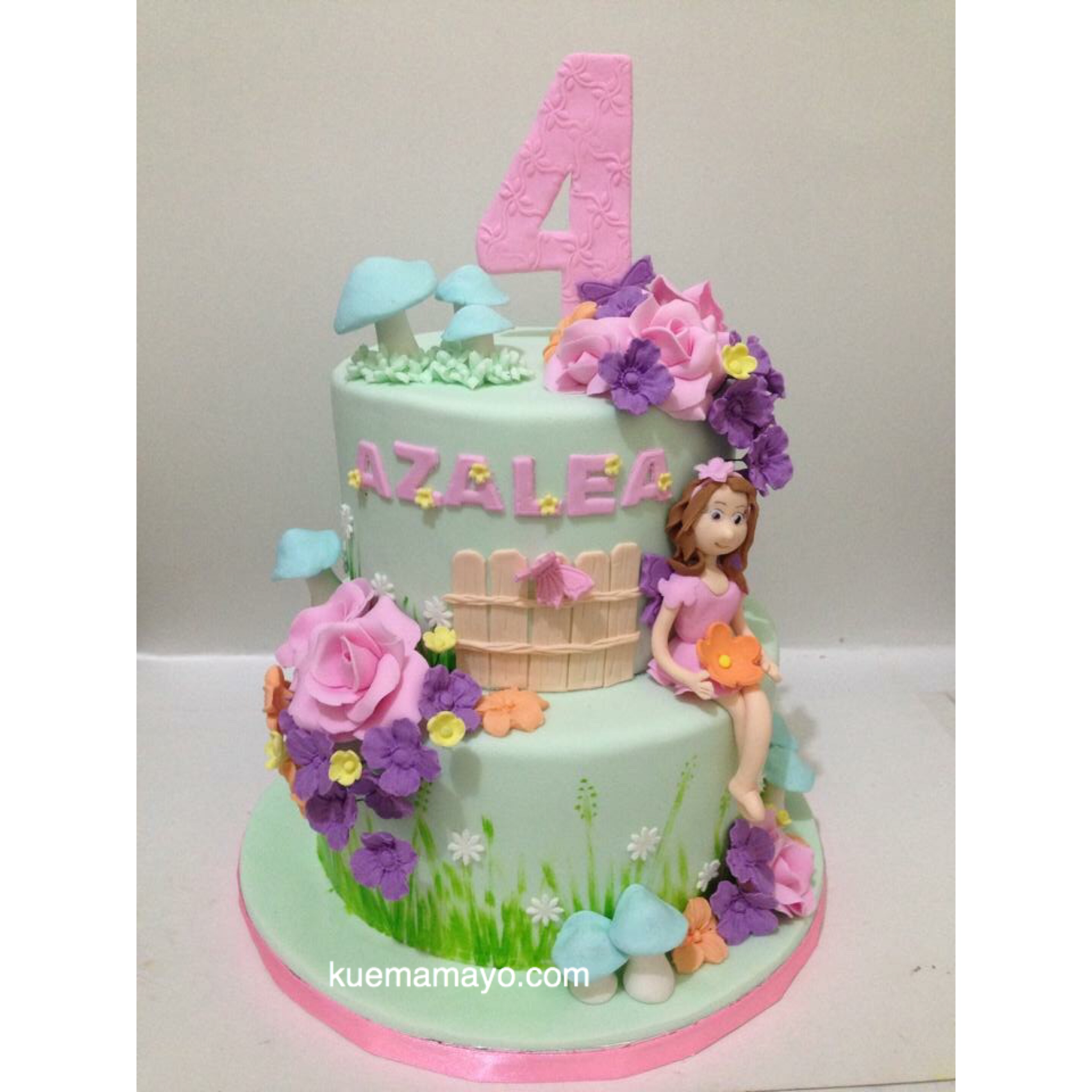 The Fairies Cake Dan Artinya : ?Little fairy themed cake Mamayo